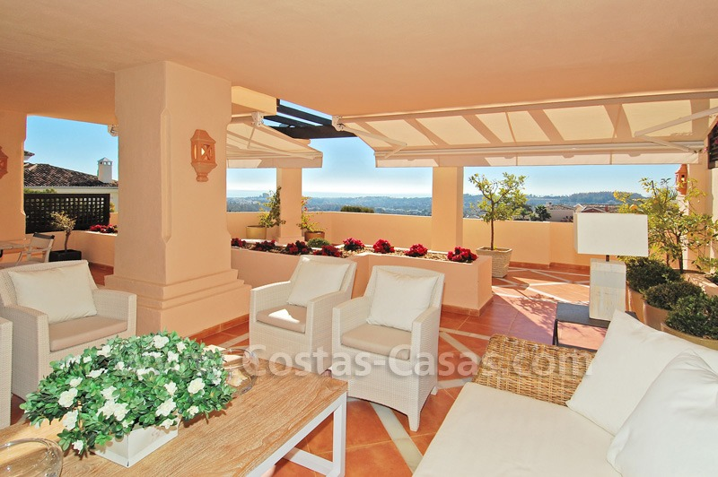 Large luxury elevated ground-floor apartment for sale in Nueva Andalucía – Marbella 0