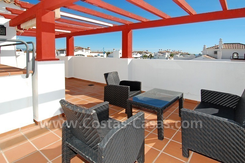 Corner penthouse apartment close to the beach for sale in Marbella