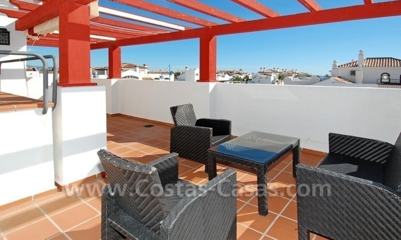 Corner penthouse apartment close to the beach for sale in Marbella 0