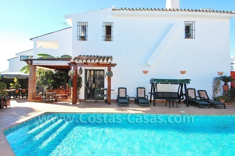 Beachside townhouse close to the beach for sale in Marbella