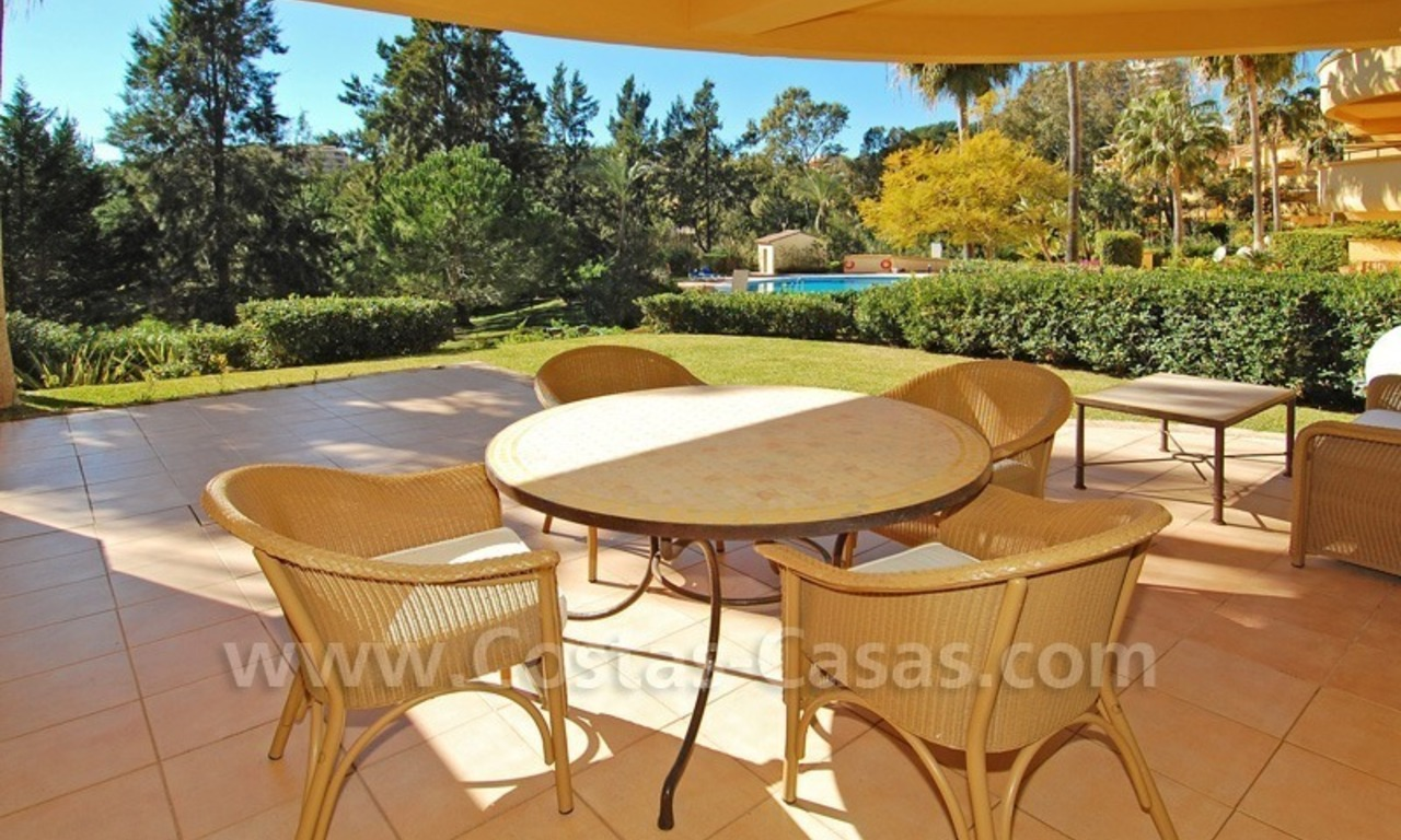 Front line golf apartment for sale in East Marbella 0