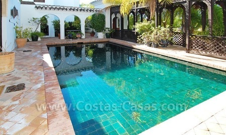 Moorish Andalusian double house for sale on the Golden Mile near Puerto Banus 0