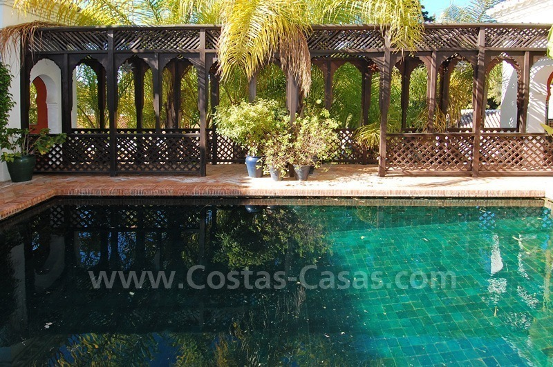 Moorish Andalusian double house for sale on the Golden Mile near Puerto Banus 1