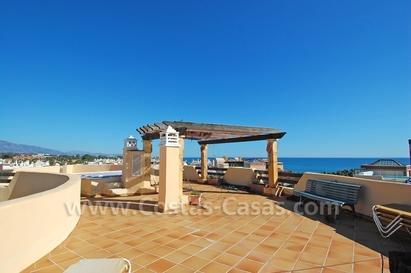 Luxury beachside penthouse apartment for sale, New Golden Mile, Marbella - Estepona