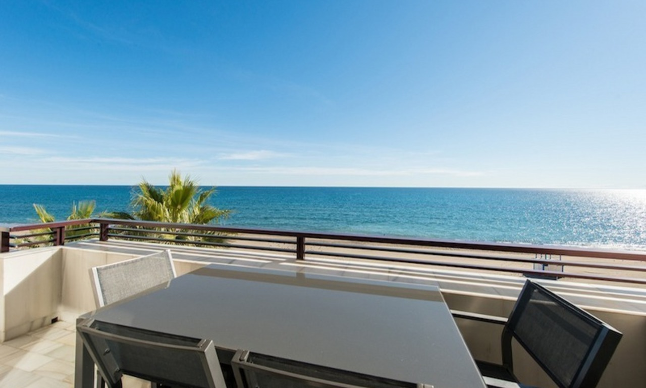 Penthouse apartments for sale next to each other, beachfront in Estepona centre 1