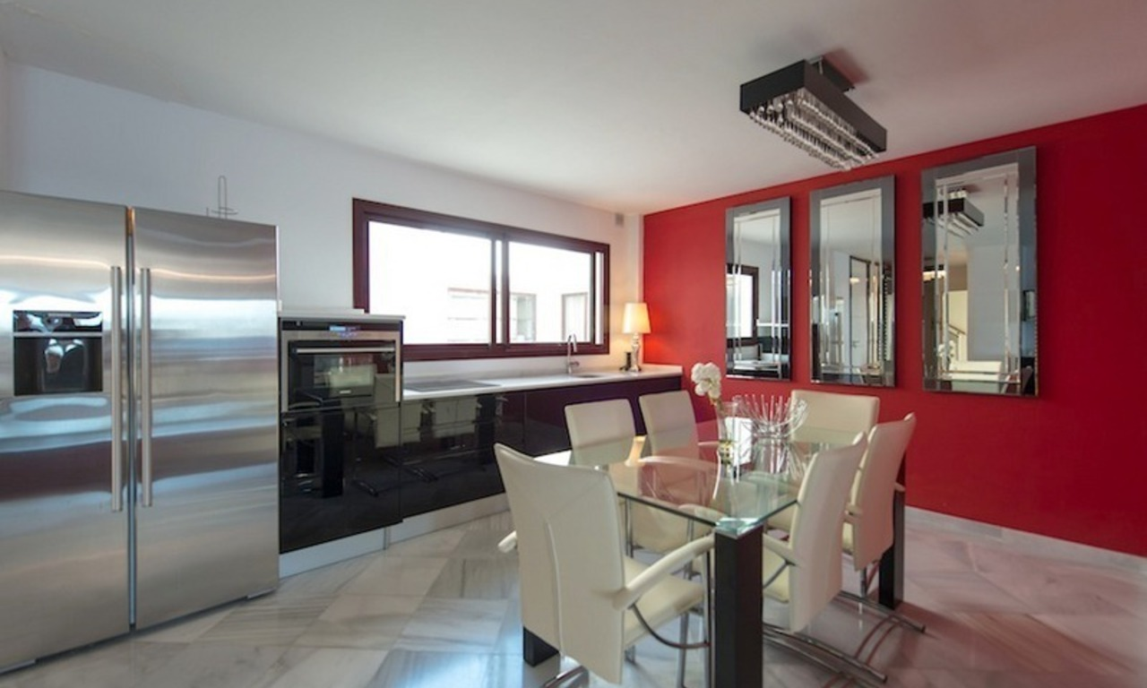 Penthouse apartments for sale next to each other, beachfront in Estepona centre 5