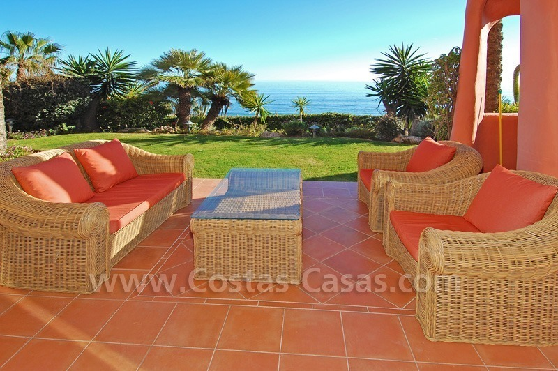 Luxury front line beach apartment for sale, first line beach complex, New Golden Mile, Marbella - Estepona