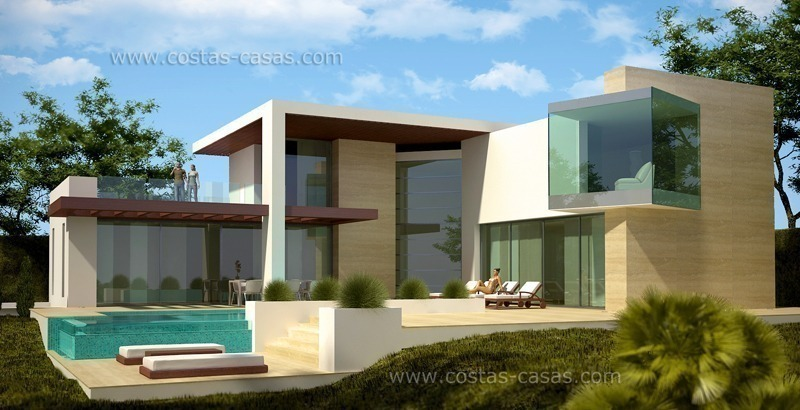 Bargain modern newly built luxury villa for sale marbella estepona for Plan villa de luxe