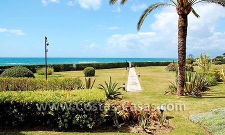 Beachfront andalusian style luxury apartment for sale in Marbella