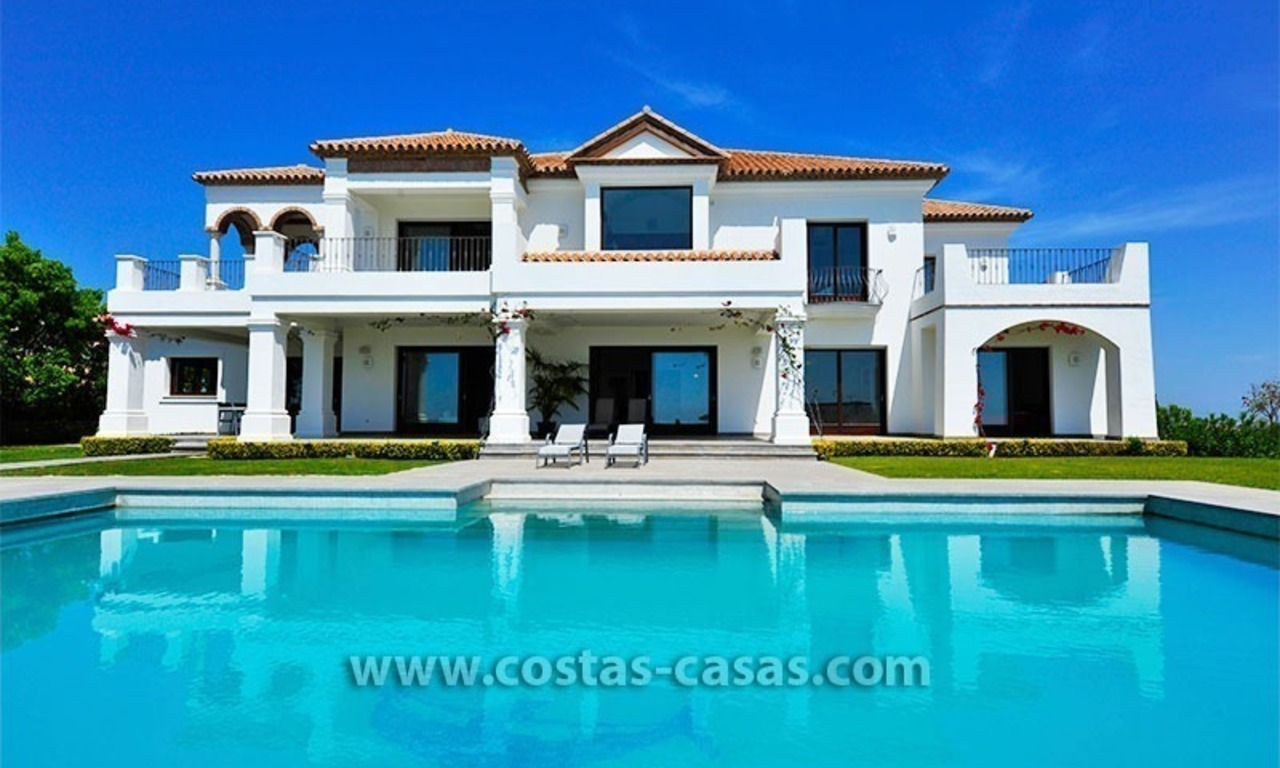 Contemporary Andalusian style luxury villa for sale at Golf Resort between Marbella and Estepona