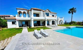Contemporary Andalusian style luxury villa for sale at Golf Resort between Marbella and Estepona 2