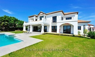 Contemporary Andalusian style luxury villa for sale at Golf Resort between Marbella and Estepona 3