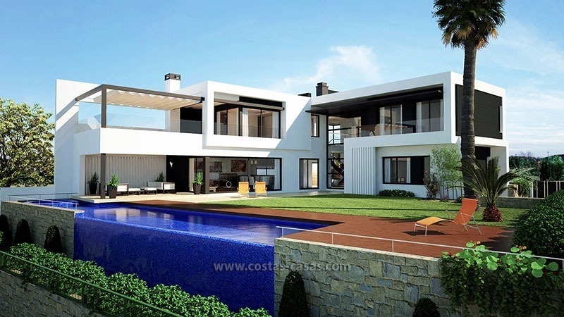 Modern villa for sale front line golf nueva andalucia marbella for Maison moderne de luxe interieur