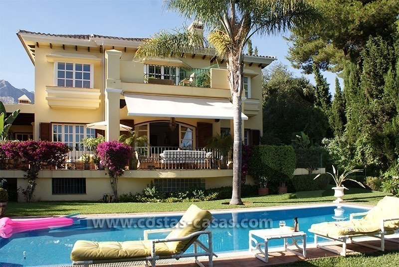 Andalusian villa for sale on the Golden Mile in Marbella