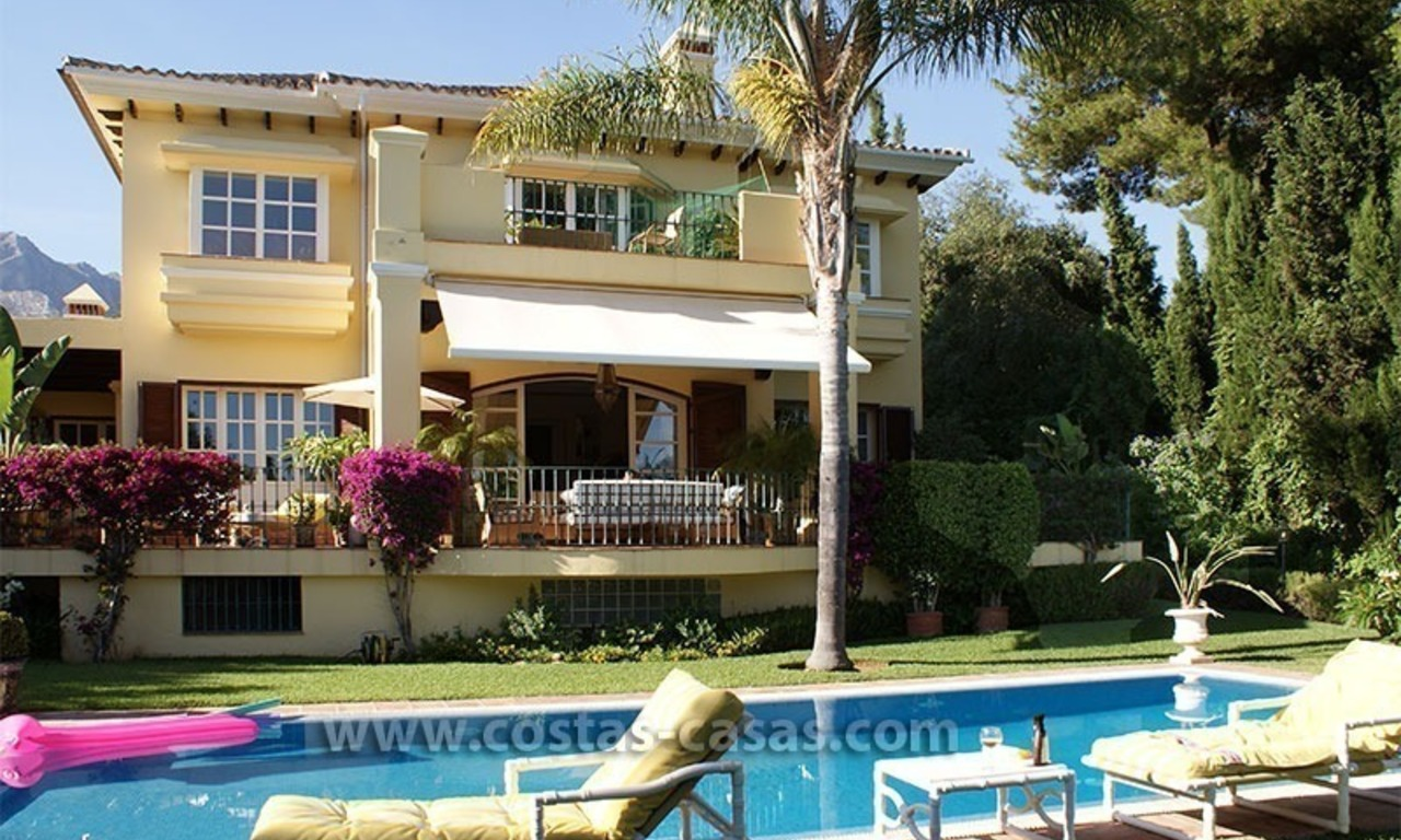 Andalusian villa for sale on the Golden Mile in Marbella 0