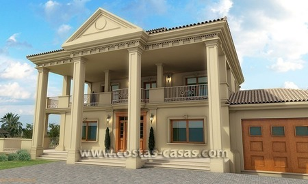 Exclusive newly built classical villa for sale on the Golden Mile in Marbella