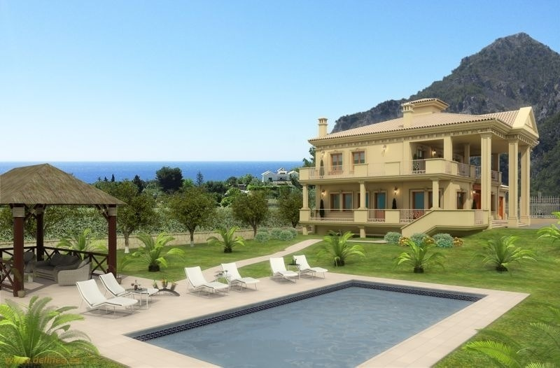 Exclusive newly built classical villa for sale on the Golden Mile in Marbella 1