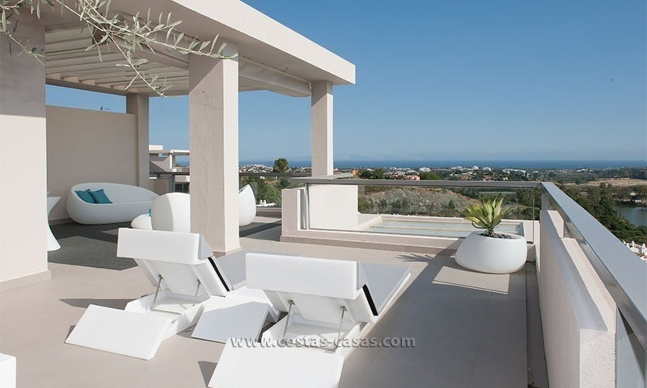 For Rent: New, Contemporary-style luxury vacation penthouse in Marbella-Benahavís, Costa del Sol 1