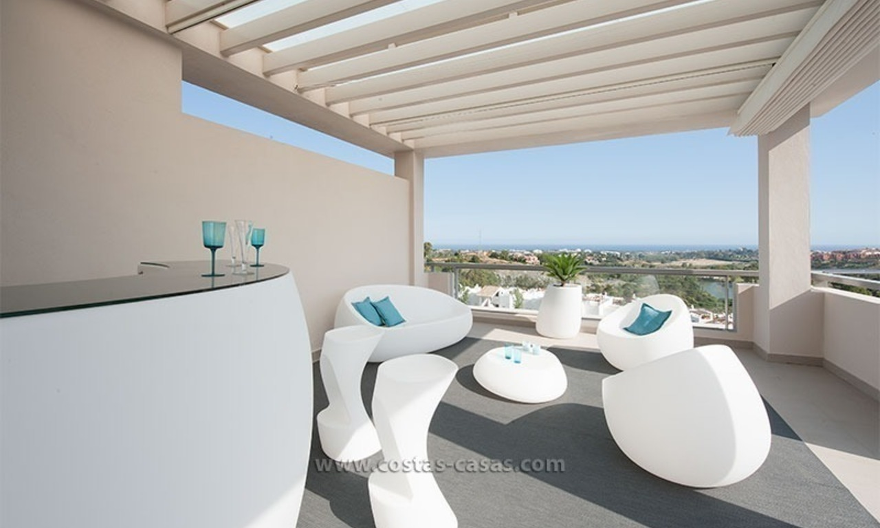 For Rent: New, Contemporary-style luxury vacation penthouse in Marbella-Benahavís, Costa del Sol 0