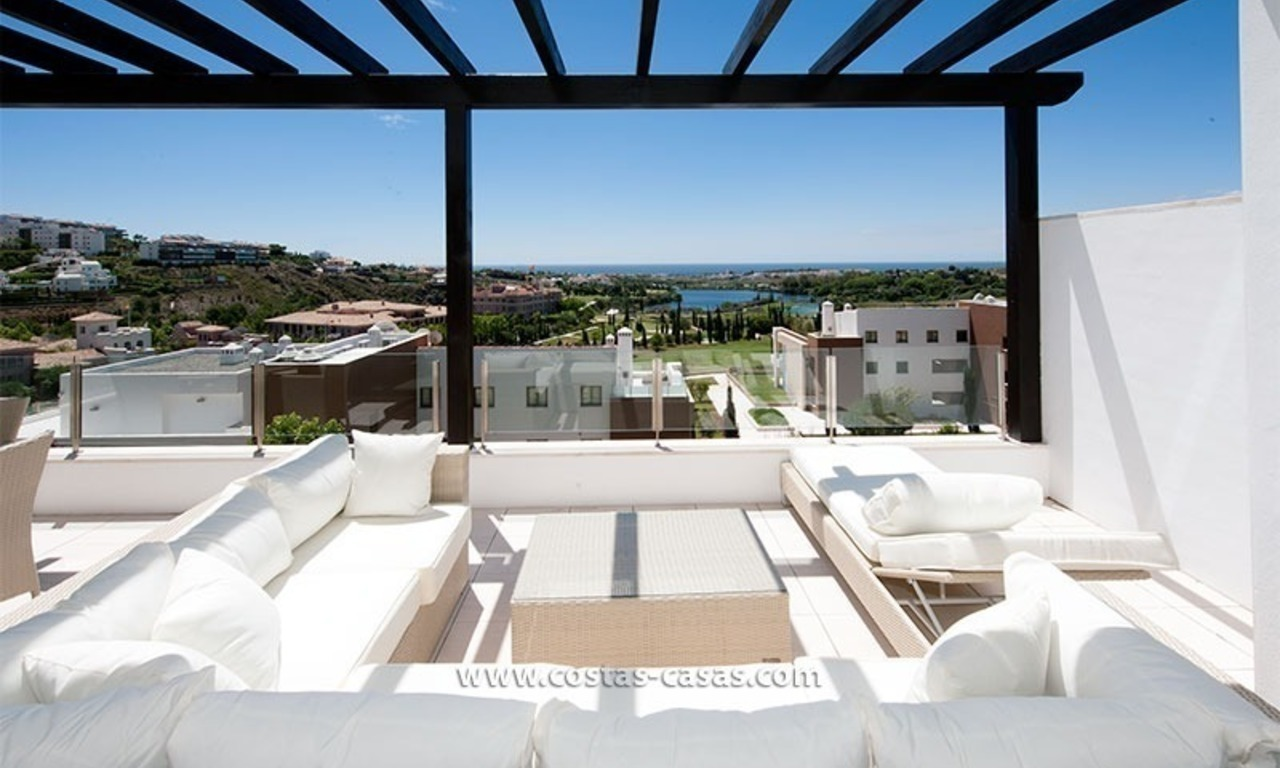 New Contemporary-style Luxury Vacation Apartment For Rent at Marbella-Benahavís Golf Resort on the Costa del Sol 1