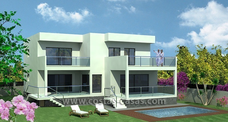 New Contemporary - style Frontline Beach Villas for Sale in Marbella