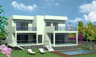 New Contemporary - style Frontline Beach Villas for Sale in Marbella 0
