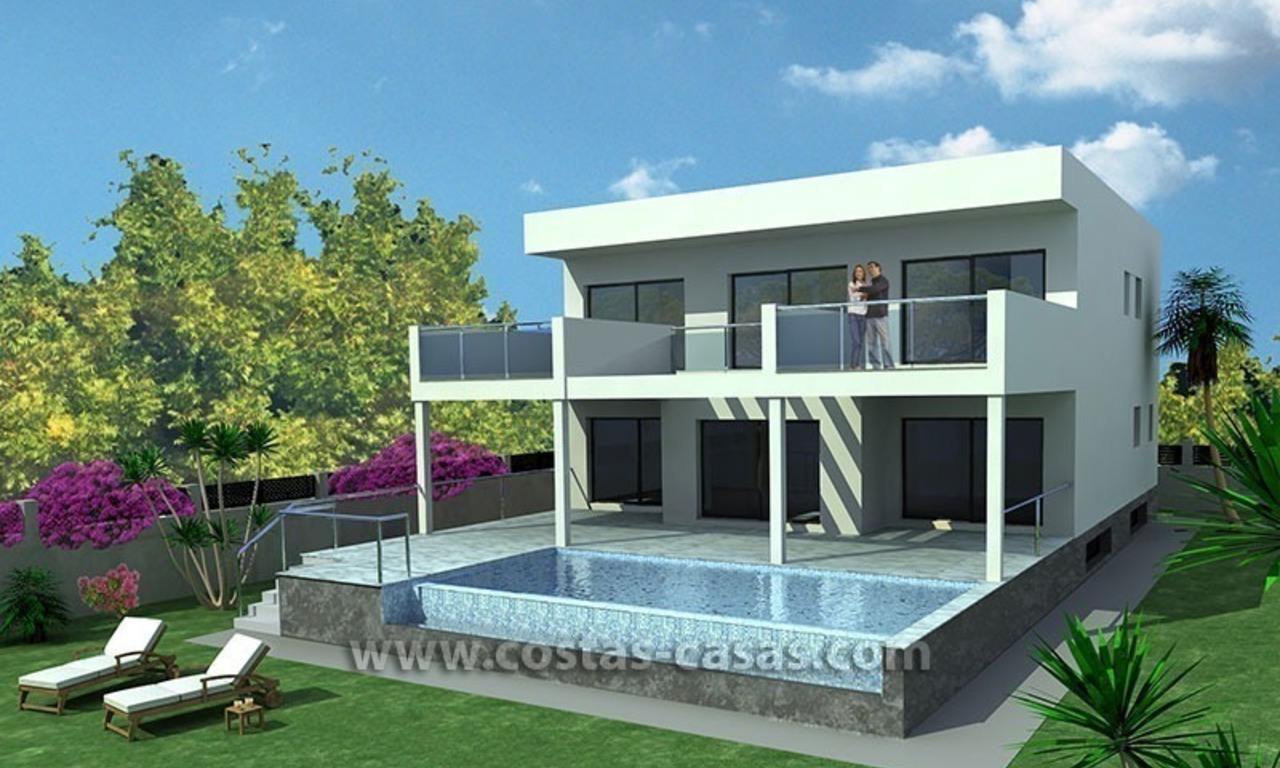 New Contemporary - style Frontline Beach Villas for Sale in Marbella 3