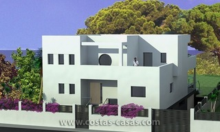 New Contemporary - style Frontline Beach Villas for Sale in Marbella 4