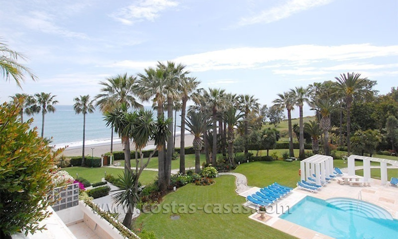 Luxury frontline penthouse apartment for sale, exclusive beachfront complex, New Golden Mile, Marbella - Estepona 0