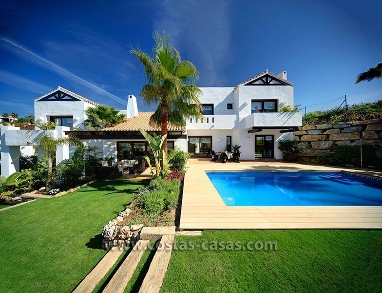 Second line golf contemporary luxury villa for sale in Marbella – Benahavis