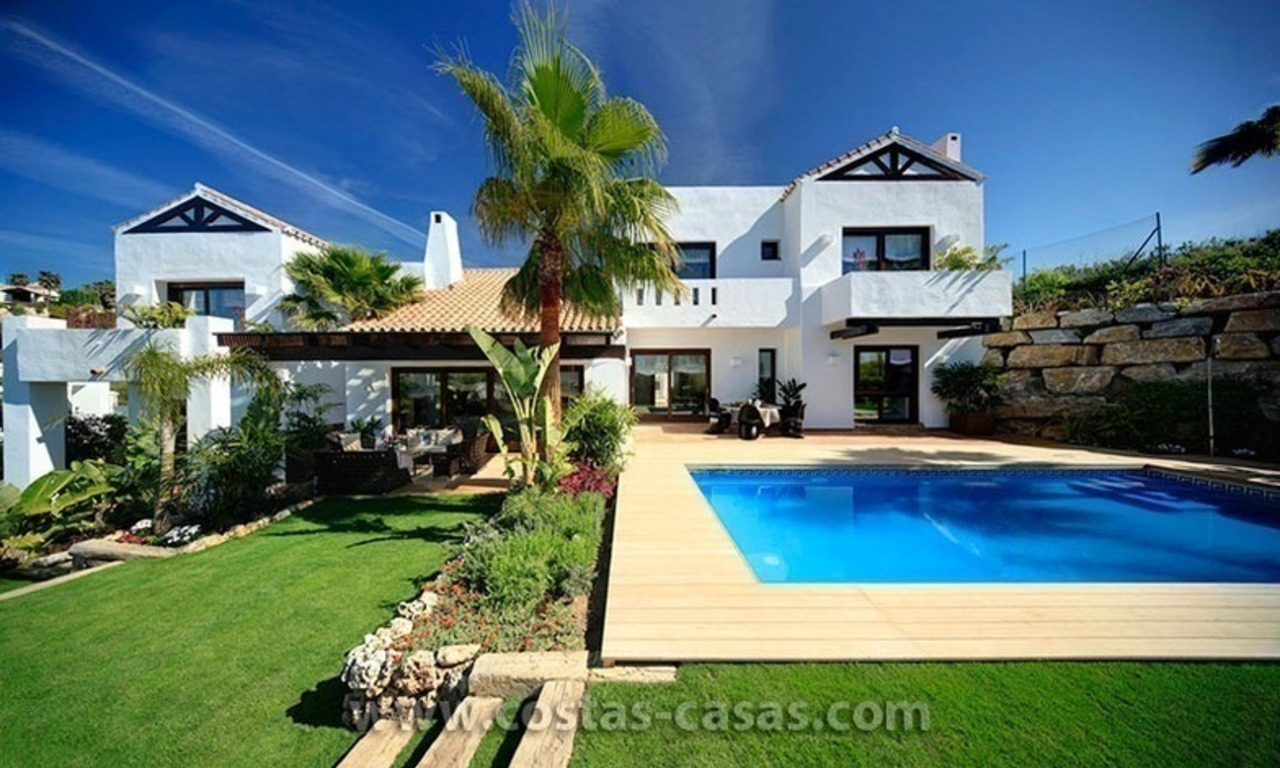 Second line golf contemporary luxury villa for sale in Marbella – Benahavis 0