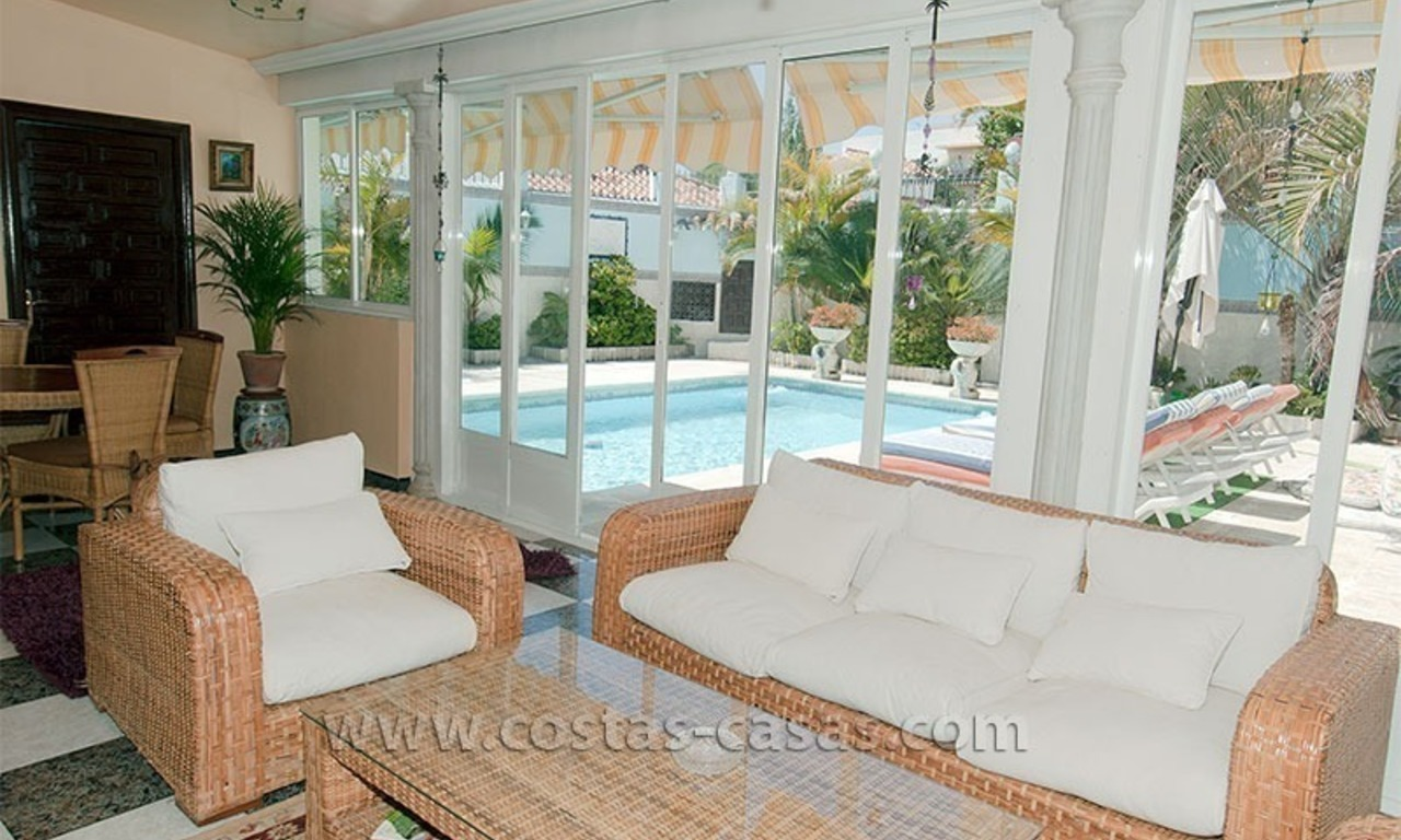 Beachside villa for sale on the Golden Mile near Puerto Banus 2