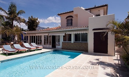 Beachside villa for sale on the Golden Mile near Puerto Banus