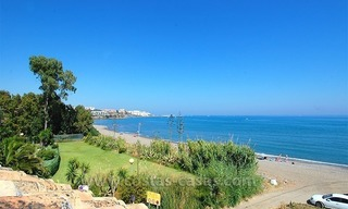 Frontline beach townhouse for sale in a first line beach complex in Estepona 1