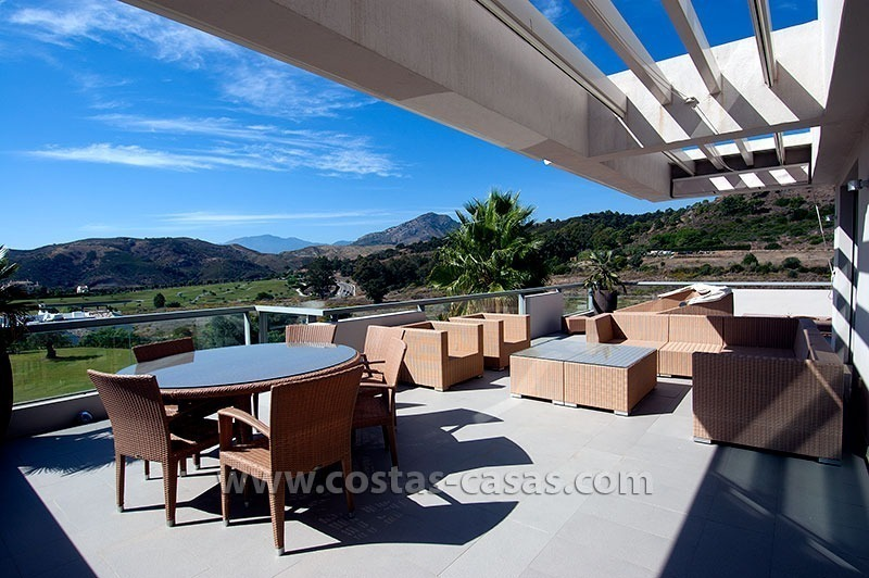 Contemporary, Luxury Golf Apartment for sale in Marbella - Benahavis