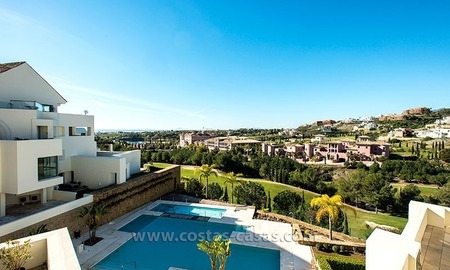 For Sale: Contemporary Luxury First-line Golf Apartment in the Marbella – Benahavís – Estepona Triangle 1