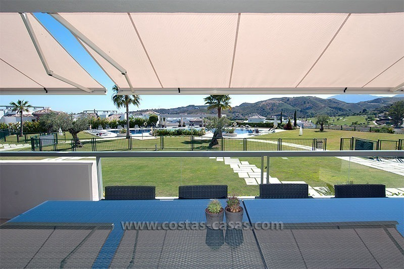 For Sale in the Marbella – Benahavís Area: Contemporary, Luxury Golf Apartment 0