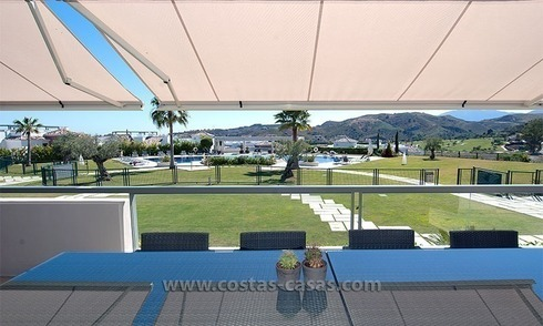 For Sale in the Marbella – Benahavís Area: Contemporary, Luxury Golf Apartment