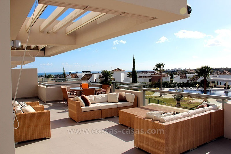 For Holiday Rent in the Marbella – Benahavís Area: Contemporary, Luxury Golf Apartment