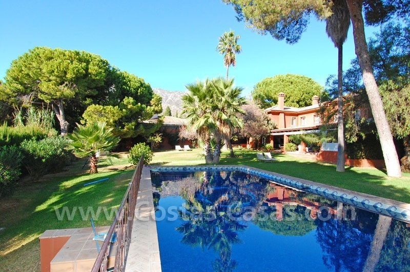 Rustic villa for rent on the Golden Mile in Marbella