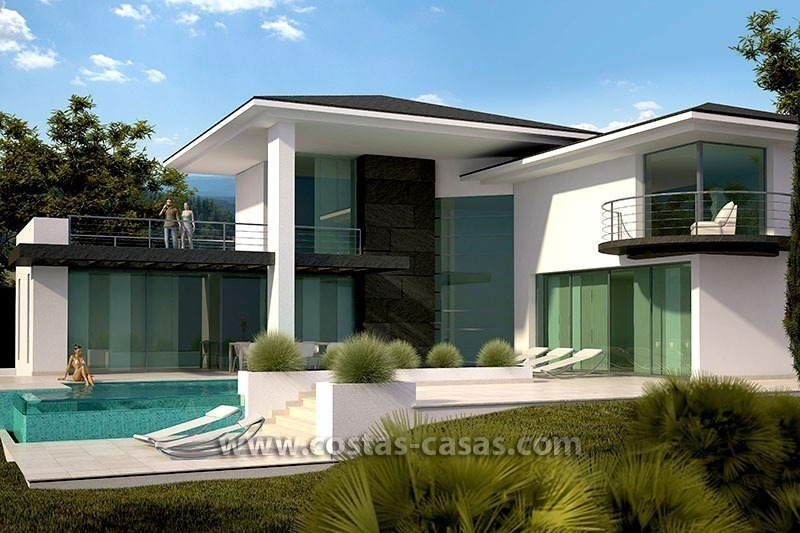 New contemporary modern luxury villa for sale in marbella for Villa de luxe moderne interieur chambre