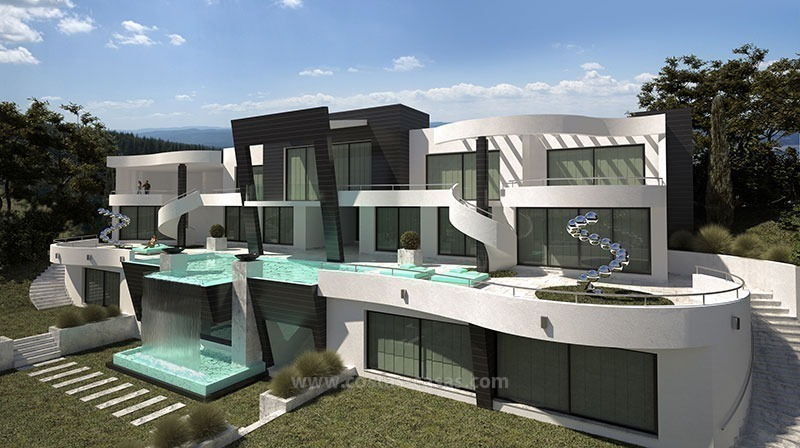 For sale brand new ultramodern luxury villa in marbella for Plan villa de luxe