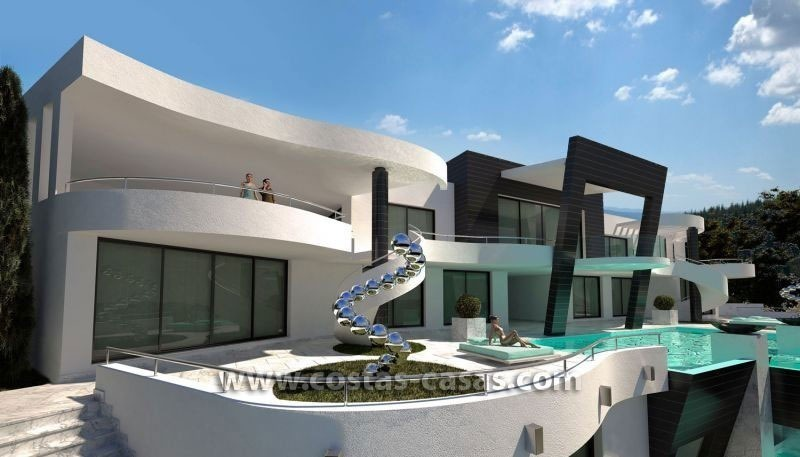 For sale brand new ultramodern luxury villa marbella Maison de luxe moderne