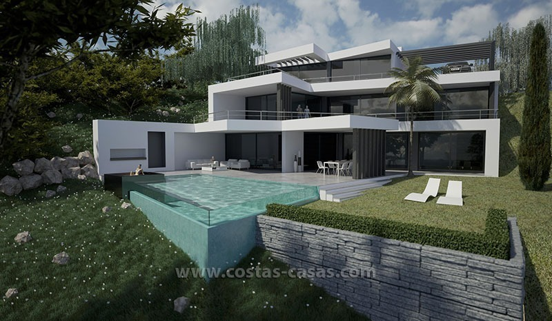 New modern luxury villa for sale marbella for Maison duplex moderne