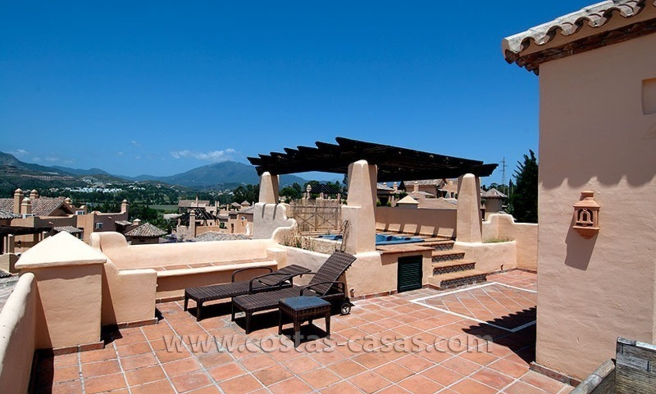 For Sale: Andalusian-Style Duplex Golf Apartment in Estepona – West Marbella 2