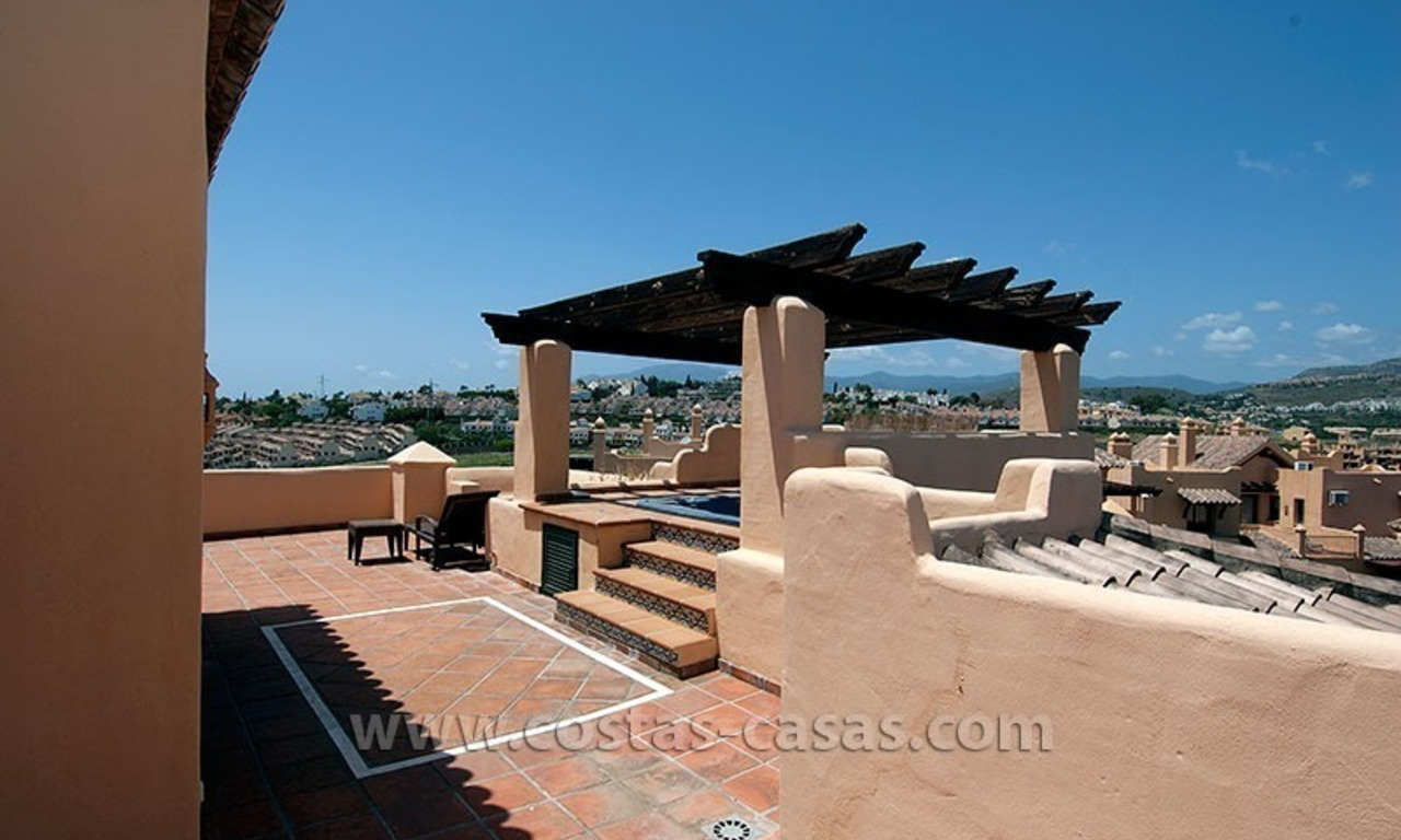 For Sale: Andalusian-Style Duplex Golf Apartment in Estepona – West Marbella 4