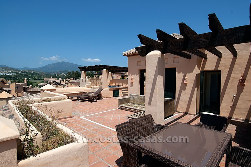 For Sale: Andalusian-Style Duplex Golf Apartment in Estepona – West Marbella