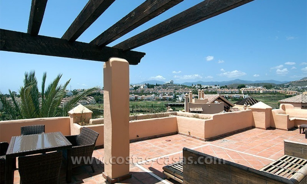 For Sale: Andalusian-Style Duplex Golf Apartment in Estepona – West Marbella 5