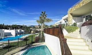 Beautiful new modern townhouse for sale on the Golden Mile, Marbella. Last unit. Key ready. 24039