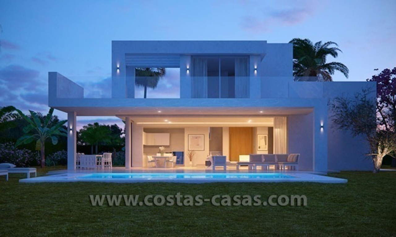 New Contemporary Villa for Sale with Huge Terraces in East Marbella 0